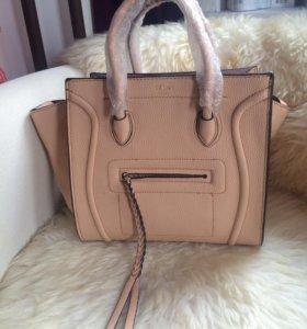 Новая бежевая сумка Celine Paris