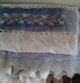 Тюль-шторы новые (лен, люрекс,органза)