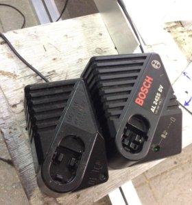 Зарядные устройства для шуруповертов Bosch.