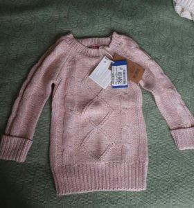 Туника для девочки (вязаное платье)