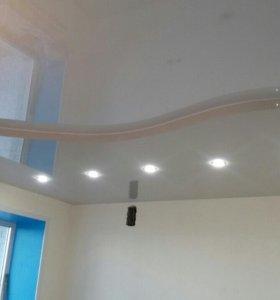 натяжные потолки монтаж  с безопасным газ.балоном