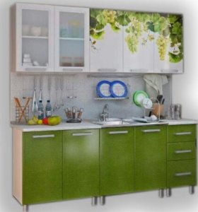 Кухня с фотопечатью мдф 2.0 м