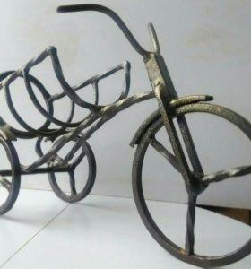Подставка кованная, декоративный велосипед