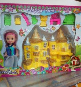 Кукольный домик с куклой(новый)