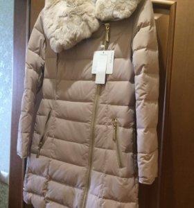 Новая зимняя куртка MissFofo c мехом кролика