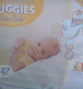 Huggies Elite Soft 2-(от4-7кг)-27шт