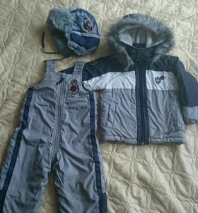 Куртка и полукомбинезон Wojcik размер 86, шапка
