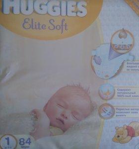 Huggies Elite Soft 1 до 5кг -84шт