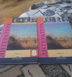 Учебник по литературе 8 класс 1 и 2 часть