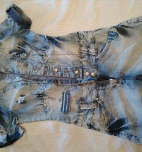 Новый фирменный джинсовый комбез