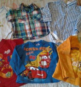 Брендовые вещи 24 штуки пакетом для мальчика