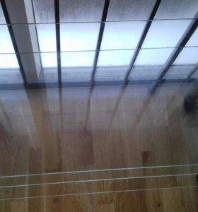 Стол стеклянный 90*40