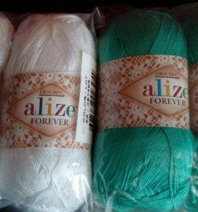 Нитки для вязания ALIZE forever
