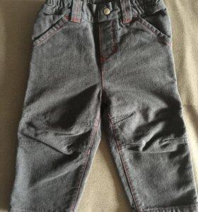 Тёплые брюки на мальчика 12 m