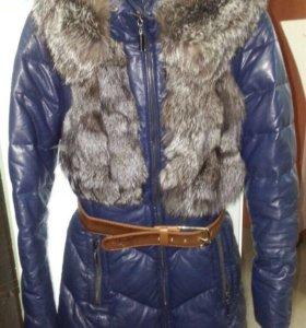 Зимняя куртка с черноборкой