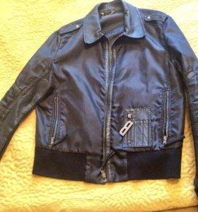 Куртка мужская Bikkembergs кожа и ткань (оригинал)