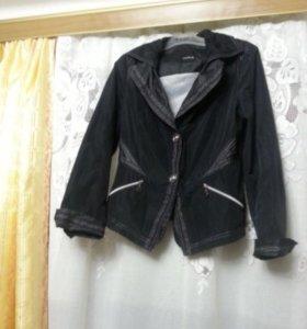 Куртка пиджачок ветровка чёрная Taifun р. 46