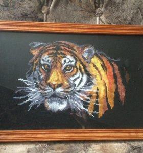 Картина крестиком Тигр