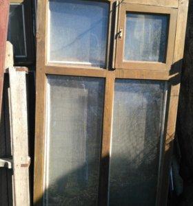 Дверь с коробкой и окна б/у