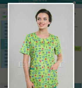 Медицинская блуза. Новая. Размер 44-46.