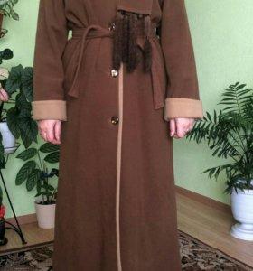 Пальто натуральное кашемировое