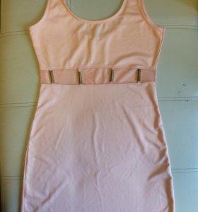 пудровое коктельное платье новое
