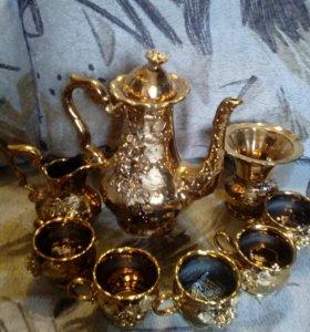 Чайный сервис ( золотой ) !!!