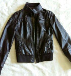 Куртка коричневая xs/s