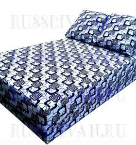 Кровать рогожка