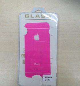 Комплект защитных стекол iPhone 5/5s/SE