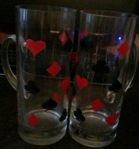 Два пивных стакана