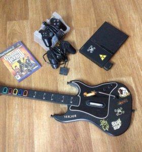 PS2 + Guitar Hero