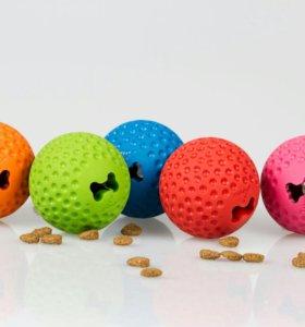 Мяч Rogz из литой резины с отверстием для лакомств