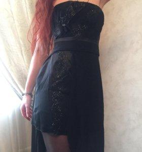 Новое вечернее/выпускное шелковое платье PAPILIO