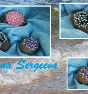 Морские камешки с росписью