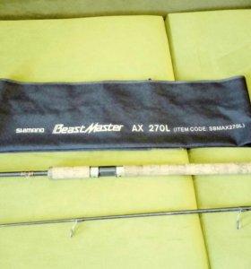 Спининг б/у shimano Beast Master AX 270 L