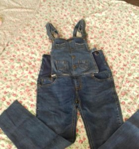Комбенизон джинсовый (джинсы) для будущей мамы