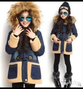 Пальто из денима