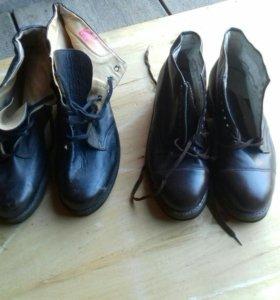 Ботинки кожаные коричневые