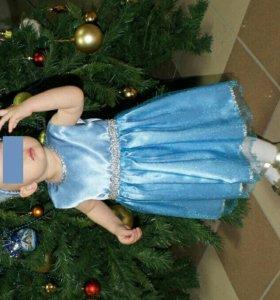 Нарядное платье + диадема на 1-1,5 года.