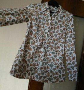 Шикарная блузка/рубашка р.44