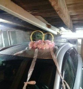 Украшения на машину свадебные