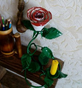 Кованные розы /кованные розы со свечами/и многое д