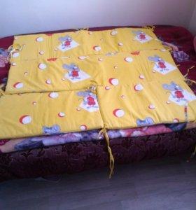 Бортики, на детскую кроватку