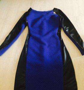 Платье синее новое