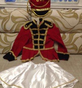 Гусарский костюм для девочки 5 лет