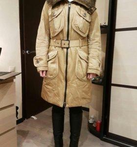 Пальто с подстежкой из кролика