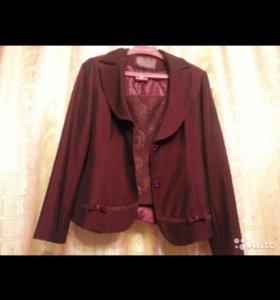 Костюм тройка Safanny - пиджак, жилет, юбка р.42