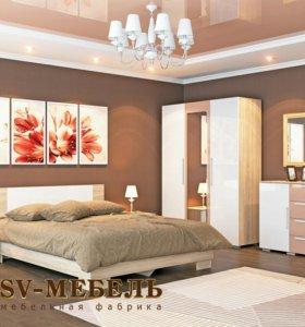 Продаю набор мебели для спальни «Лагуна 2» МДФ