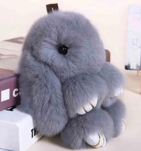 Брелок из натурального меха кролика ))